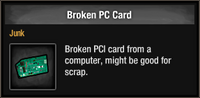 Broken PC Card