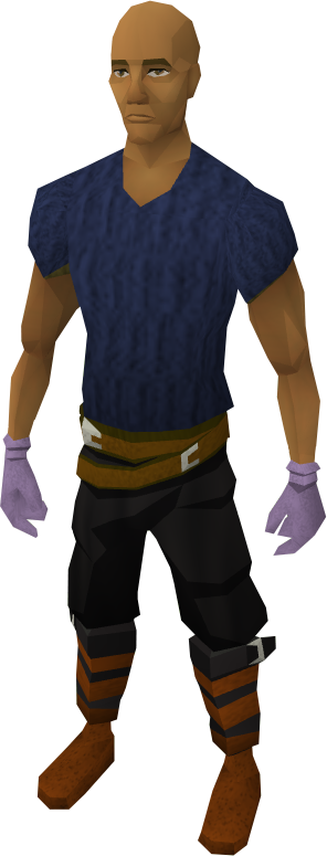 Swordfish gloves equipped