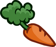 Carrot puffle food icon