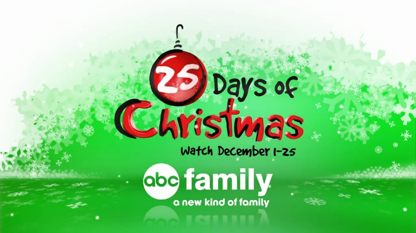 picture regarding Abc Family 25 Days of Christmas Printable Schedule named ABC Familys \u201c25 Times of Xmas\u201d Line-Up 2012! Â«