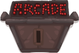 Arcade door closed