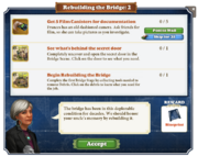 Quest Rebuilding the Bridge 2-Tasks