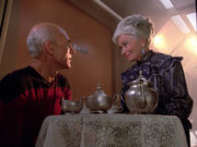 Picard speaks to his mother