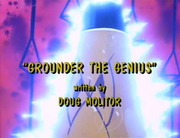 Grounder the Genius Title Screen