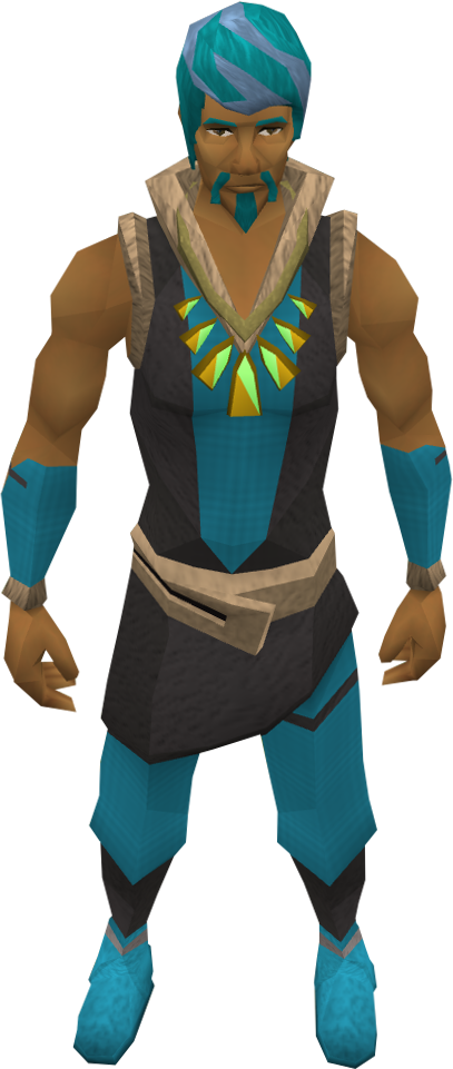 Prized pendant of Herblore equipped