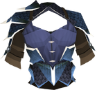 Dragonhide body (t) (blue) detail