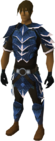 Dragonhide armour set (t) (blue) equipped