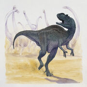 Yangchuanosaurus-running-in-the-forest