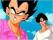 Vegeta en la llegada de King Cold