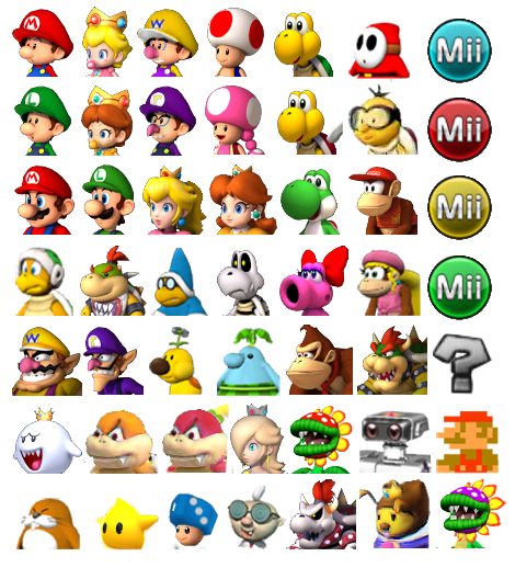 Mario kart 3ds fantendo the nintendo fanon wiki - Personnage mario kart 7 ...