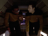 Data and La Forge in jefferies tube