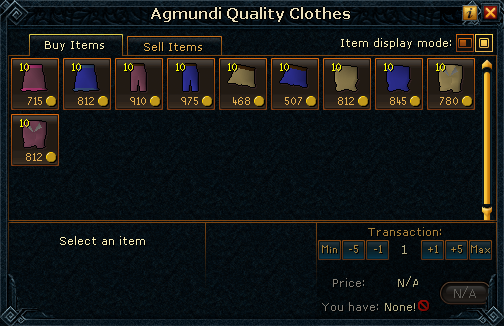 Agmundi Quality Clothes stock