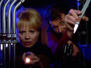 Riker and MacDougal try to stop Wesley