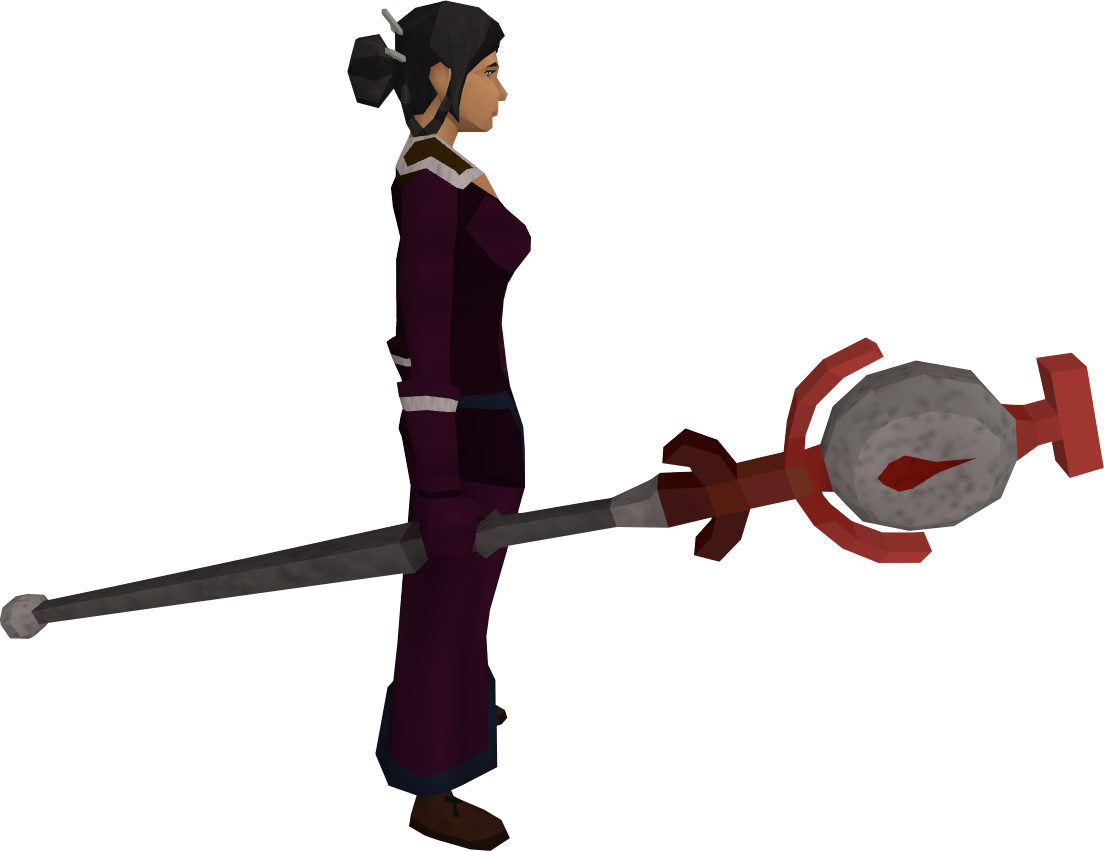 Blood talisman staff equipped