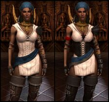 DA2 Threads of the Eastern Seas - Before and After Comparison - Isabela companion armor