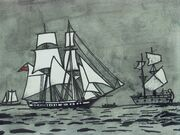 Battle of Chesapeake artwork by Kaloneous
