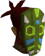 Tribal mask (green) chathead