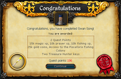 Swan Song Reward