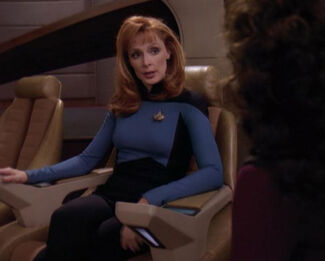 Beverly Crusher in command, 2370