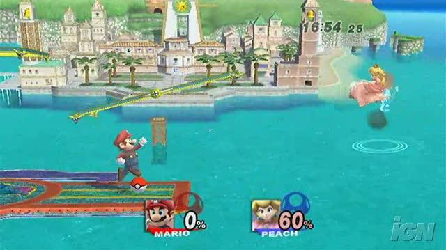 Super Smash Bros. Brawl Nintendo Wii Preview - Player Profile Mario (480p)