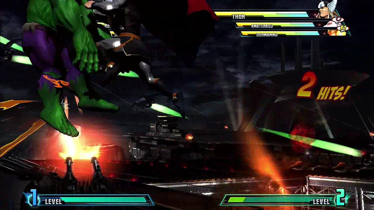 Marvel Vs. Capcom 3 Fate of Two Worlds - Thor Likes Air Combos