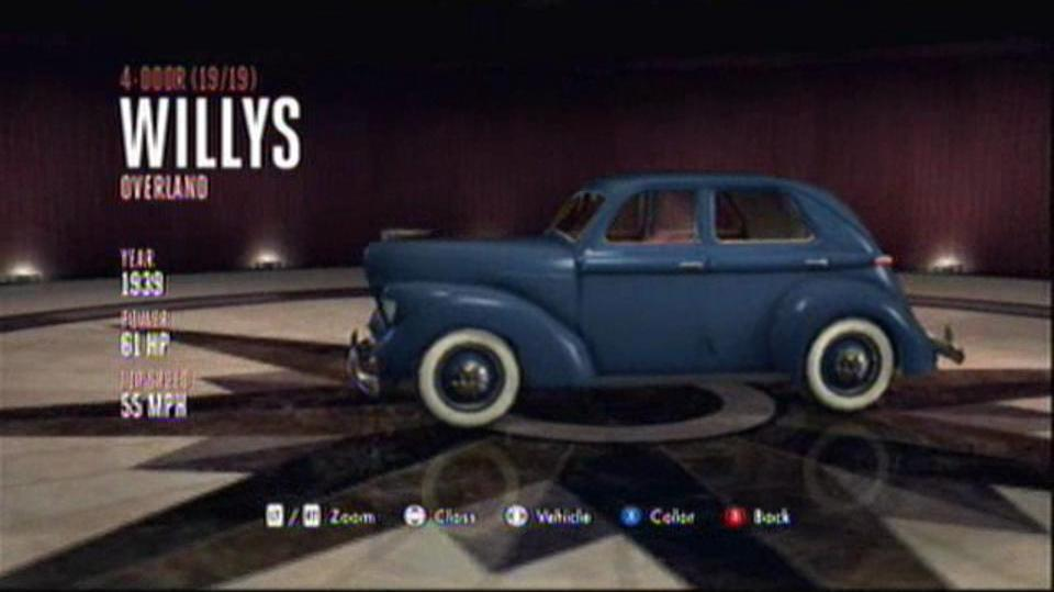 L.A. Noire Hidden Vehicles 4-Door - Willys Overland - Downtown, Central