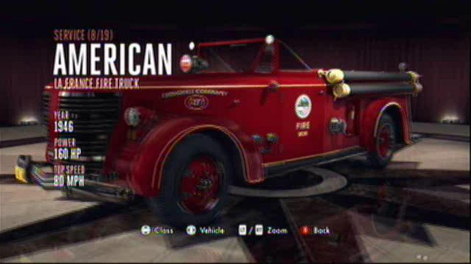L.A. Noire Hidden Vehicles Service - American La France Fire Truck - Wilshire