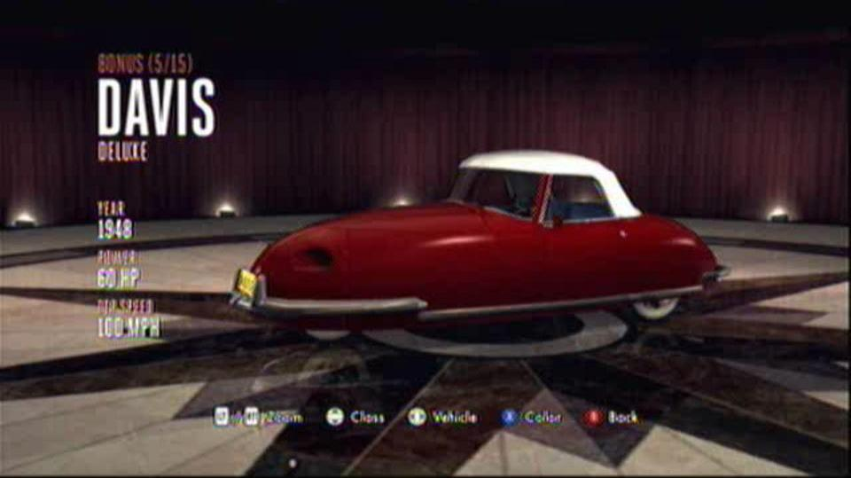 L.A. Noire Hidden Vehicles Bonus - Davis Deluxe