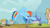 Rainbow Dash kung fu pose S2E8