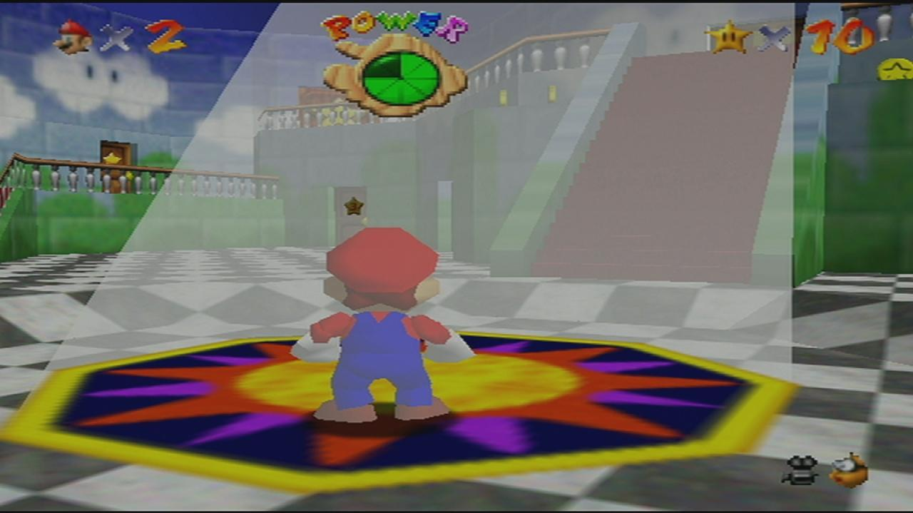 Super Mario 64 Looking into the Light