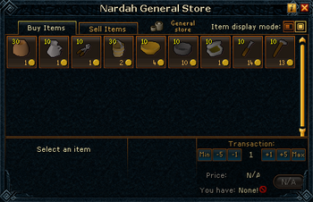 Nardah General Store stock
