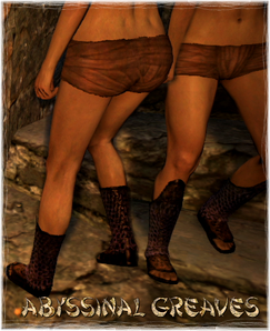 Armour Legs Abyssinal Greaves