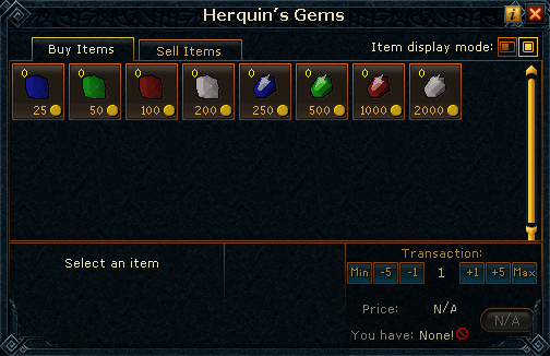 Herquin&#39;s Gems stock