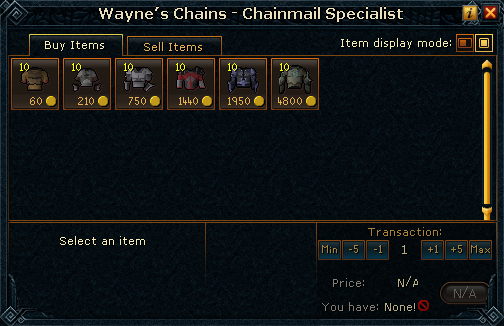 Wayne&#39;s Chains - Chainmail Specialist stock