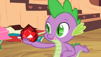 Spike staring at fire ruby S2E10