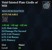 Void-Tainted Plate Girdle of Will