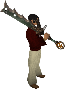 Bandos godsword equipped