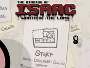 The binding of isaac title screen