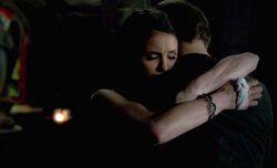 Alaric elena last hug