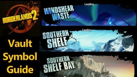 Borderlands 2 - Vault Symbols - Windshear Waste, Southern Shelf, Southern Shelf - Bay