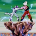 A Final Attack - Goku and Frieza struggle