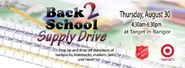 WLBZ-TV's Back 2 School Supply Drive Video Promo For August 30, 2012