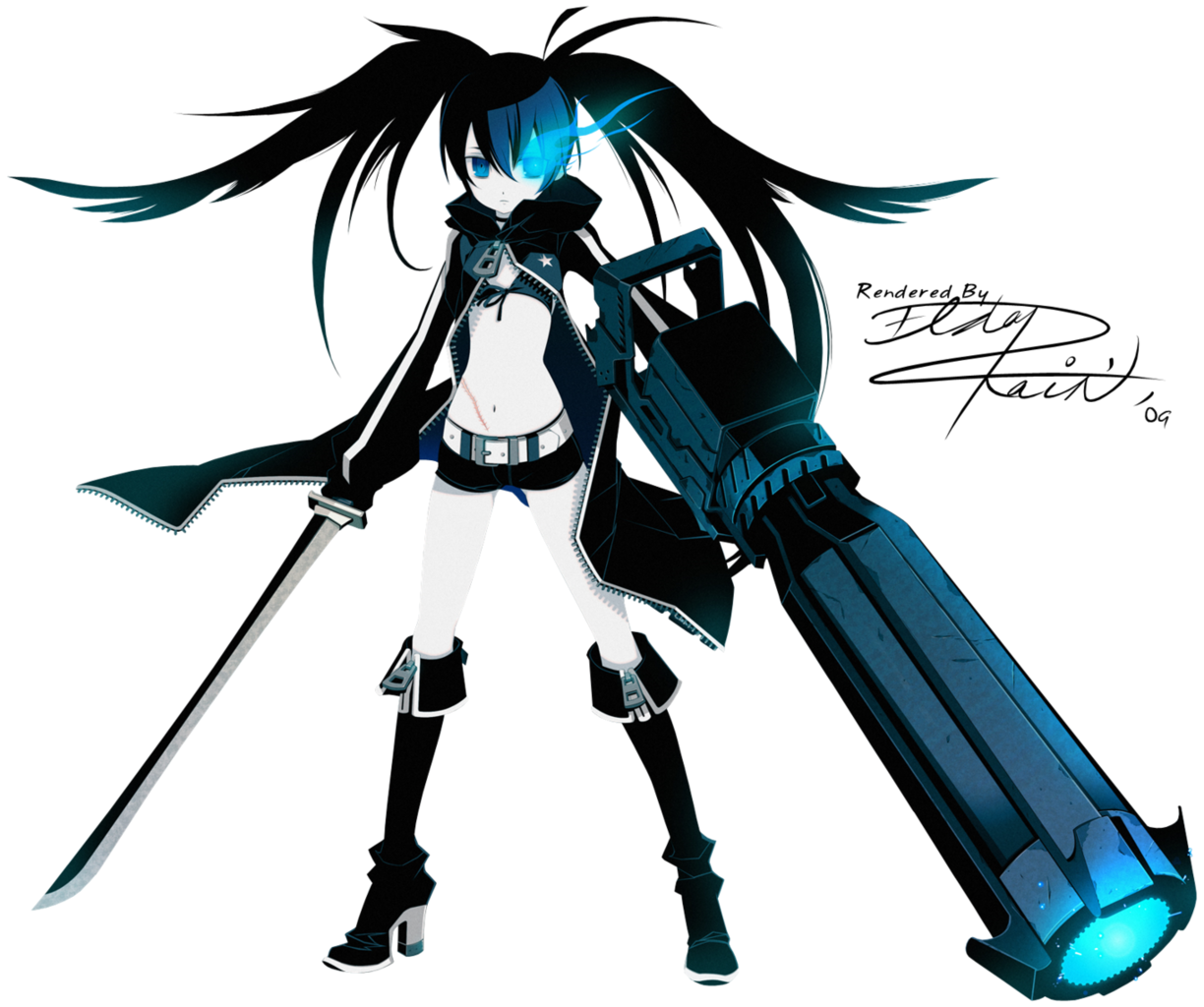 Image - Black rock shooter.png - The Adventure Time Wiki ...