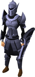 Mithril armour set (sk) equipped