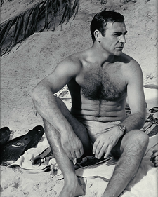 Sean Connery on the set of Thunderball (1965)