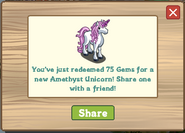 Amethyst Unicorn Redeemed