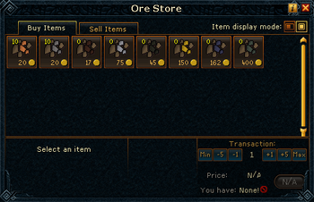 Ore Store stock