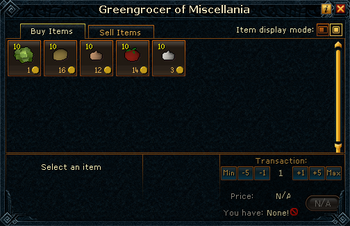 Greengrocer of Miscellania stock