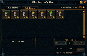 Blurberry's Bar stock