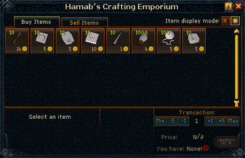 Hamab's Crafting Emporium stock